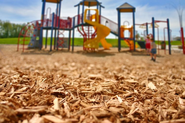 engineered wood fiber playground mulch